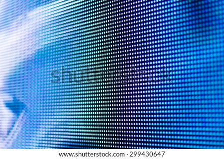 Bright blue led screen background - stock photo