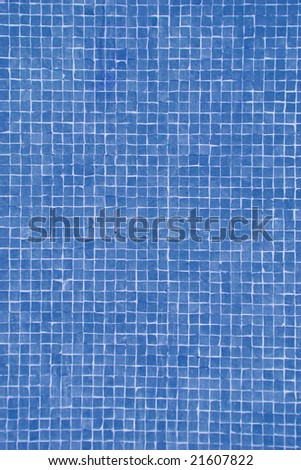 bright blue mosaic - stock photo