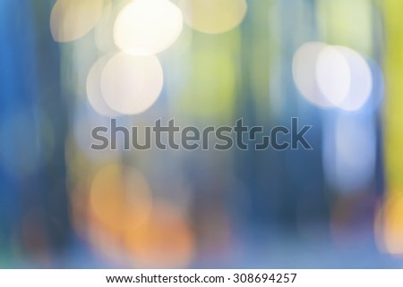 Bright blurred bamboo forest abstract background at twilight - stock photo
