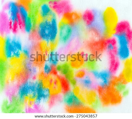 Bright Bright watercolor stains - stock photo