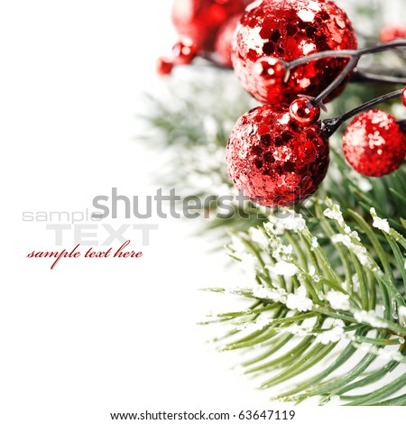 Bright christmas composition with sample text - stock photo