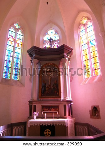 Bright church - stock photo