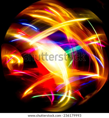 Bright Colors Fractal Artwork  - stock photo