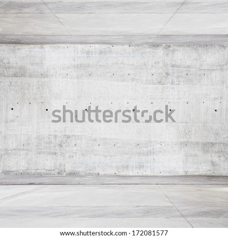 Bright concrete room - stock photo