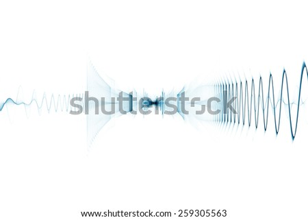 Bright digital sound wave background - stock photo