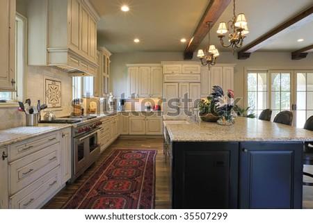 Bright Elegant Kitchen - stock photo