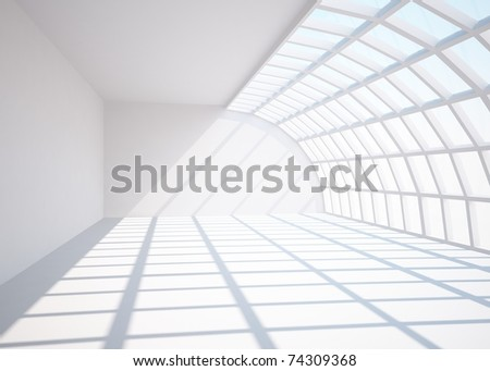 bright empty room - stock photo