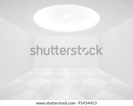 Bright empty room - stock photo