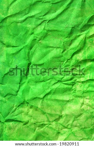 Bright green color painted background. Art is painted by photographer. - stock photo
