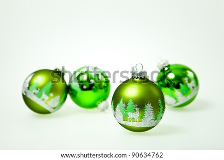 Bright green ornament on clear background for your own text. - stock photo