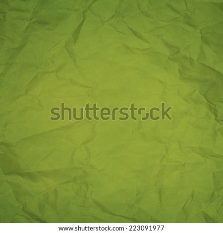 bright green wrinkled paper texture or background - stock photo