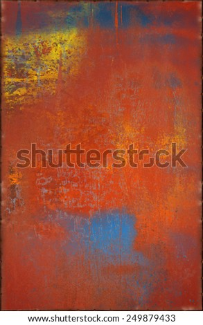 Bright Grungy Metal Background with Rusty Seams Along Edges (Part of Colorful Metal Textures set, which includes 12 textures that fit together perfectly to form a huge image) - stock photo