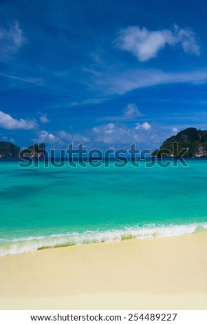 Bright Holidays Serene Waters  - stock photo