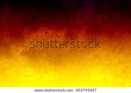 bright hot colors of yellow red and black in dramatic background illustration with grunge texture and stains, abstract gradient background design - stock photo