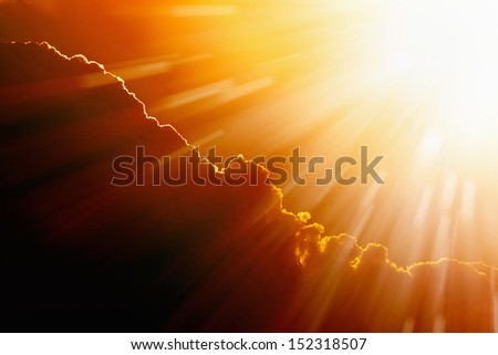 Bright hot sun, climate change, global warming, high temperature - stock photo