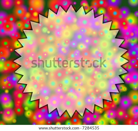 bright invitation background - stock photo