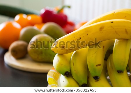Bright, juicy and delicious fruits - stock photo