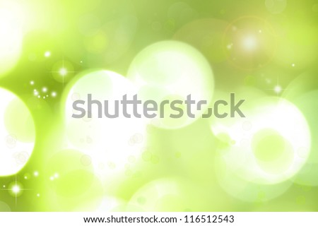 Bright lights abstract green background - stock photo
