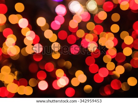bright lights blurred abstract bokeh Christmas background - stock photo