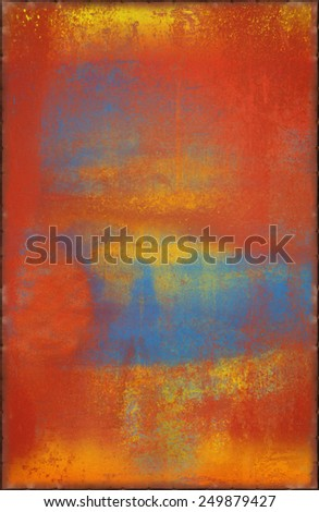 Bright Metal Texture with Rusty Seams Along Edges (Part of Colorful Metal Textures set, which includes 12 textures that fit together perfectly to form a huge image) - stock photo