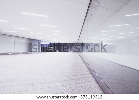Bright modern tunnel in the city - stock photo