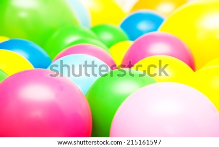 Bright multicolor balloon closeup - stock photo