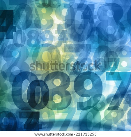 bright numbers square background illustration  - stock photo
