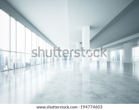 Bright open space - stock photo