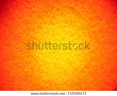 Bright orange yellow textured abstract background - light painting - stock photo