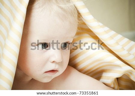 bright picture of adorable baby - stock photo