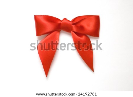 Bright red bow - stock photo