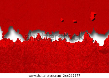 Bright red wall abstract - stock photo