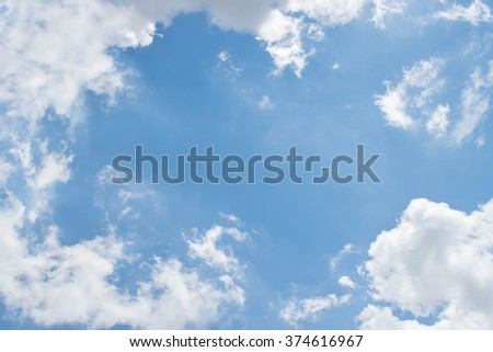 Bright sky and fresh air for background - stock photo