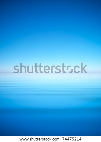 Bright sky and water. Abstract composition - stock photo