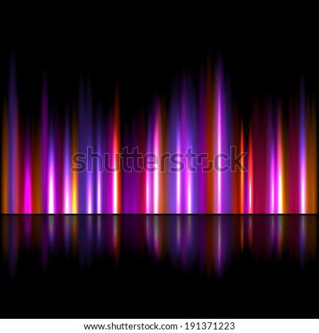 Bright sound wave background - stock photo