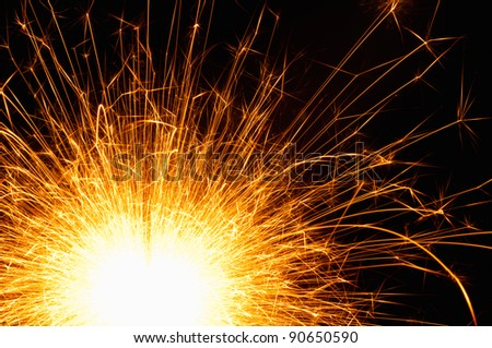Bright spark of happiness and festive fun - stock photo