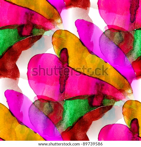 bright splash desing color purple watercolor mosaic seamless texture with stains - stock photo