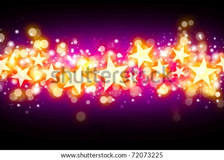 Bright stars background - stock photo
