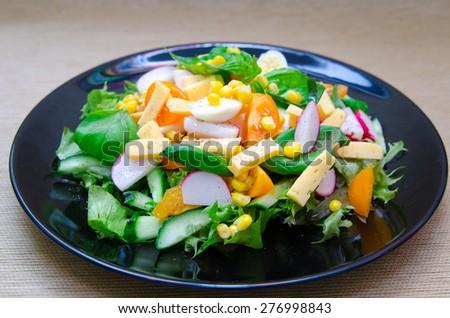bright summer salad diet - stock photo