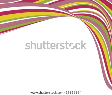 Bright, swoopy stripes border - stock photo