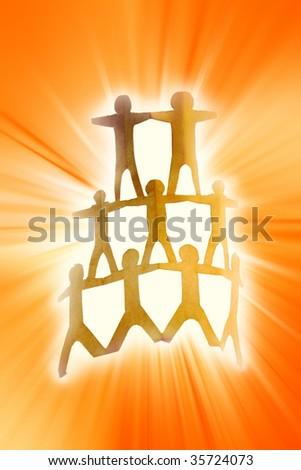 Bright team - stock photo