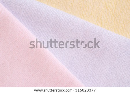 bright towels - textured background  - free text space  - stock photo
