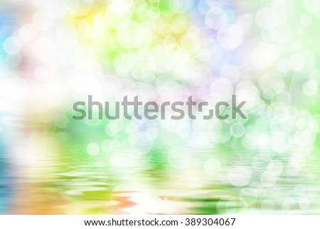 Bright vivid colorful sunny abstract bokeh background - stock photo