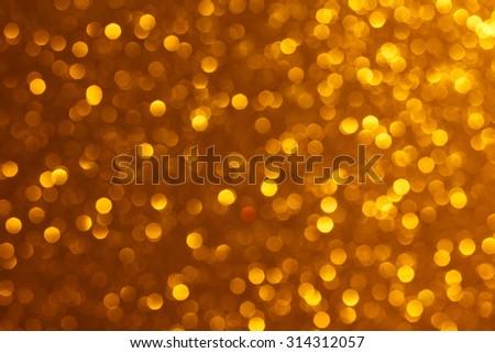Bright warm golden lights bokeh background - stock photo