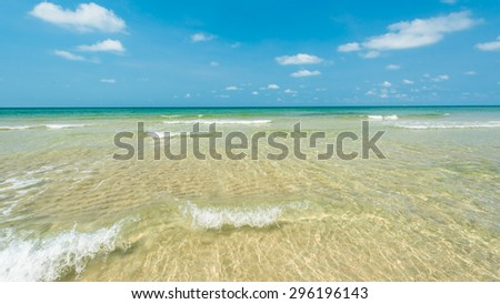 Bright water with beautiful beach at Koh Chang island ,Thailand - stock photo