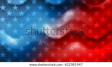 Bright wavy Independence Day background - stock photo