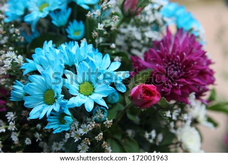 Bright wedding flowers. - stock photo