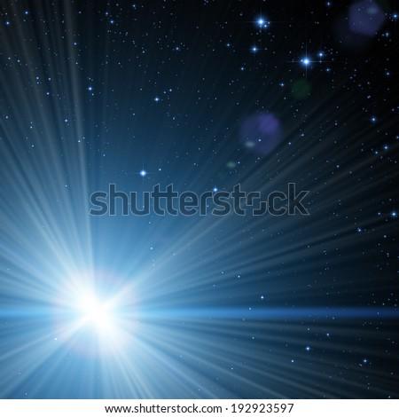 Brightest star Sirius as seen through a telescope. - stock photo
