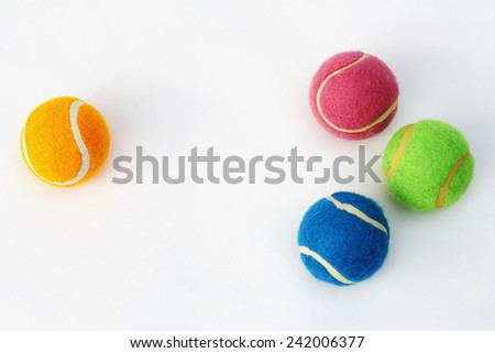Brightly Colored Tennis Balls - stock photo