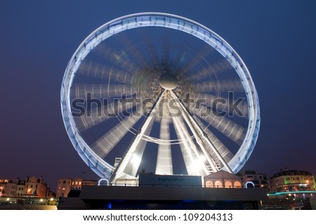 Brighton Carousel at night - stock photo